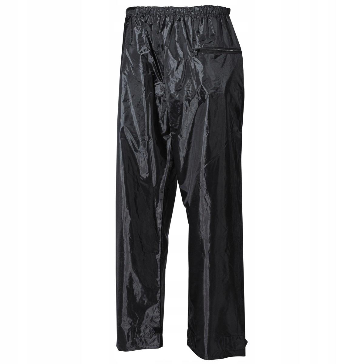Nohavice, pršiplášte, polyester PVC, čierny