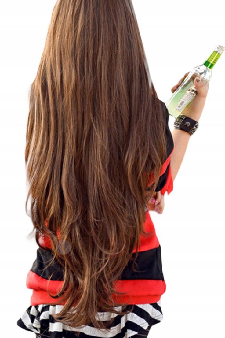 Парик длинные коричневые волосы GESTE MEGA РЕЗИНА