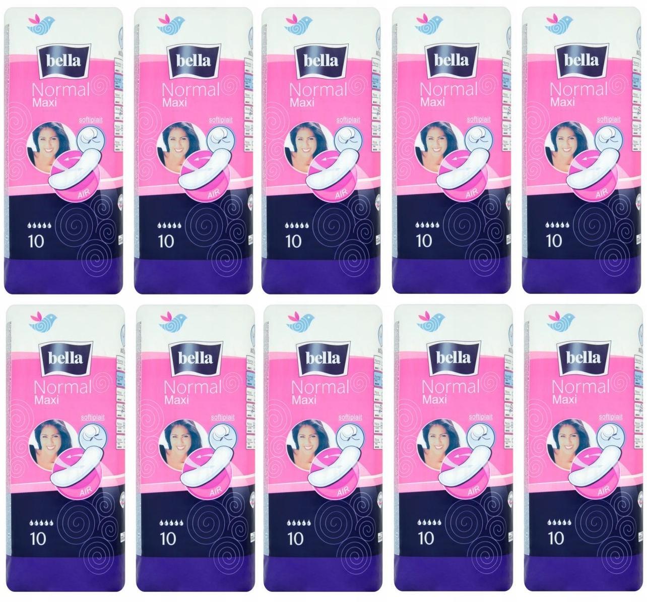 Гигиенические прокладки Bella Normal Maxi (10 штук) x 10
