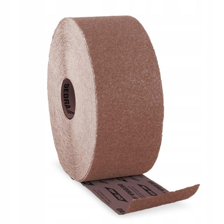 Plátený brúsny papier Dedra v rolke 50mx115mm gr120