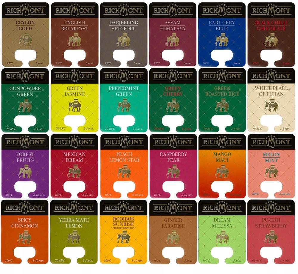 Item RICHMONT tea set all 26 flavors