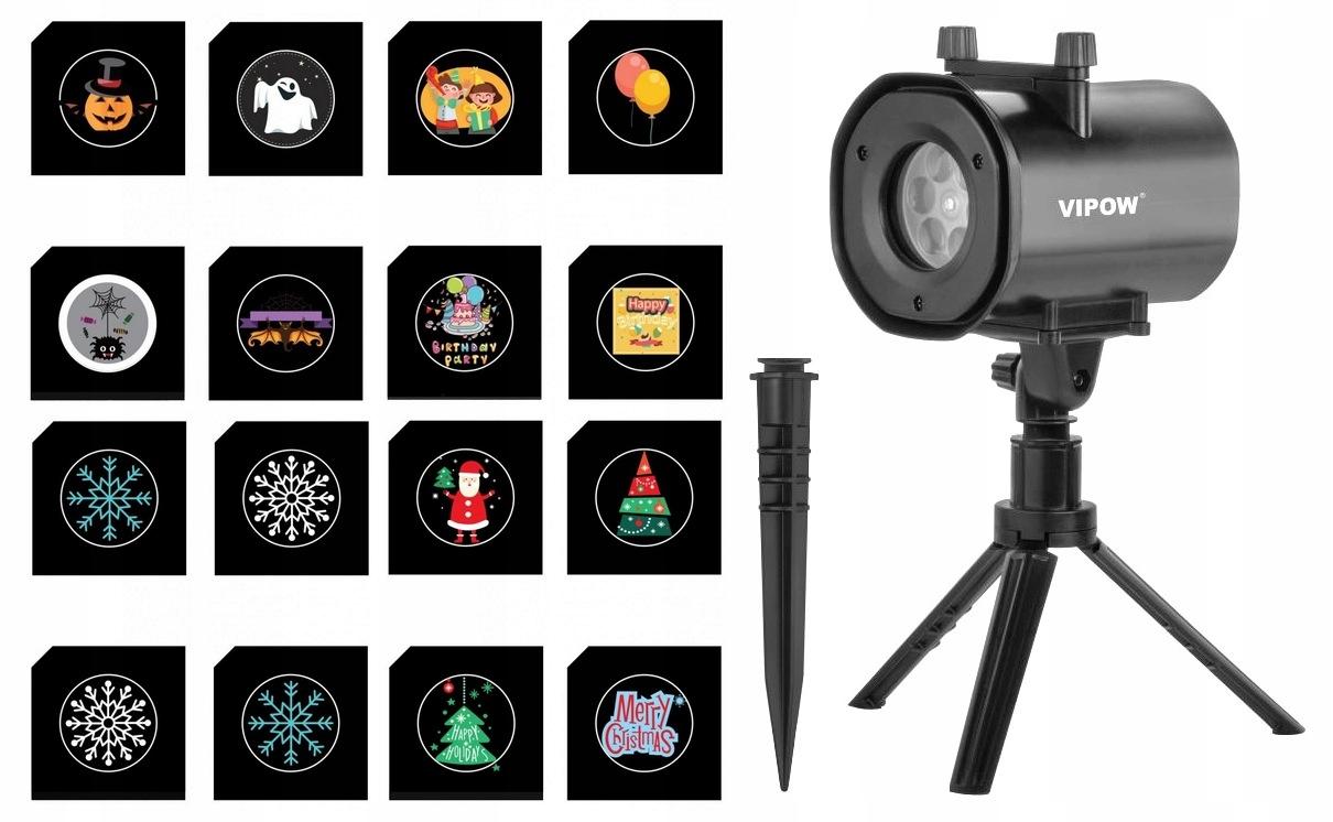 LED projektory Vymeniteľné diapozitívy 16 dizajnov