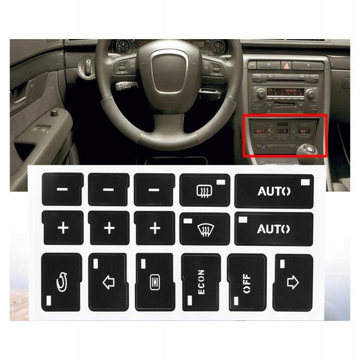 наклейки ремонт клавиши кнопки audi a4 b6
