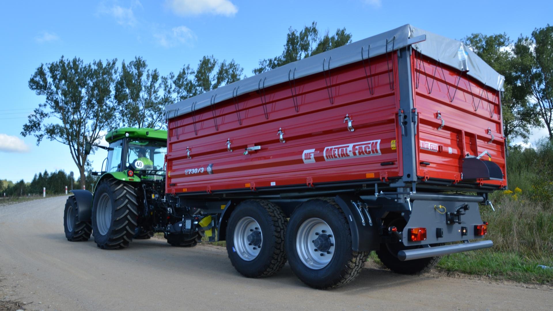 Przyczepa Rolnicza Metal Fach T730 1 8 Ton Tandem 8856880450 Allegro Pl