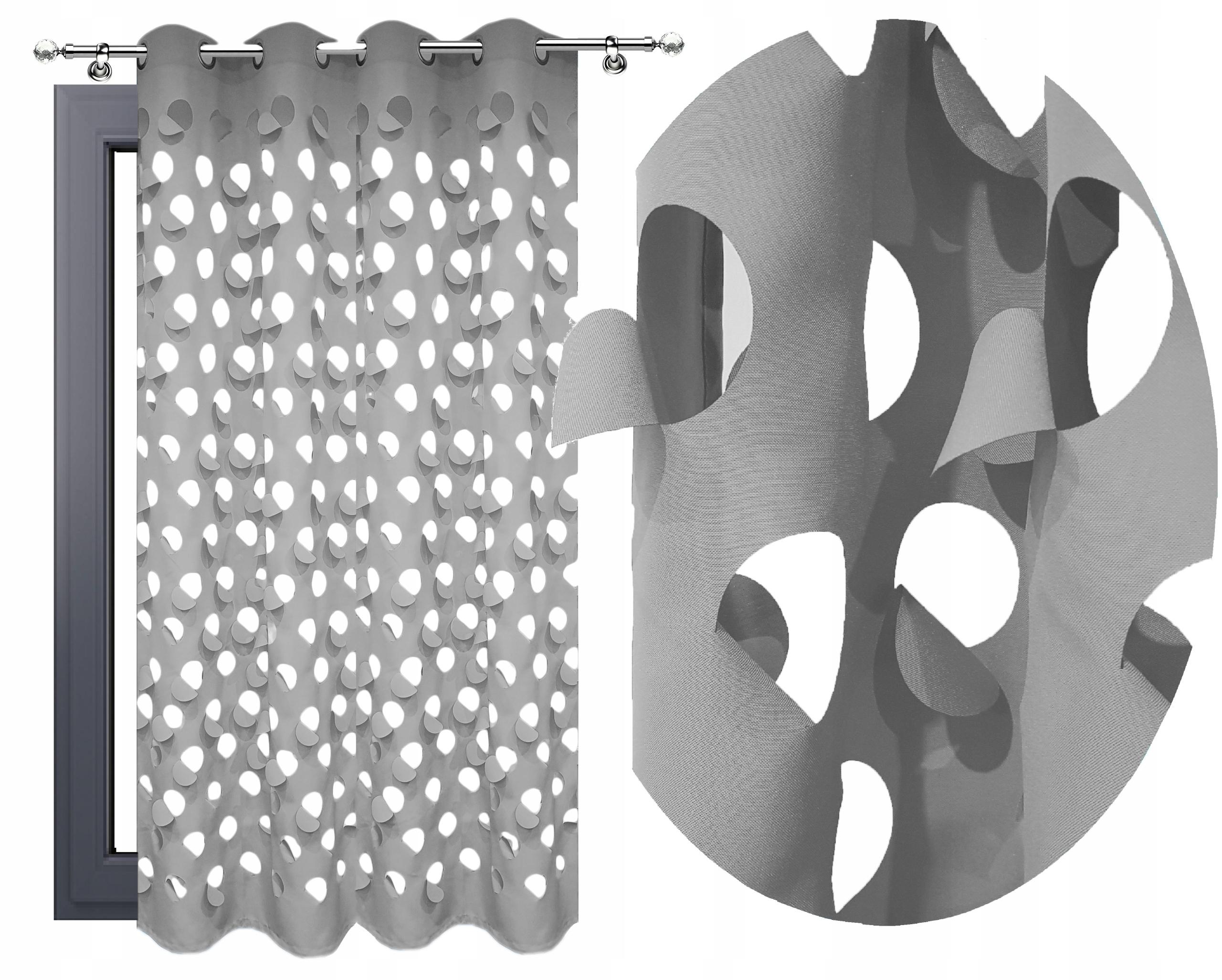 ZASŁONY 3D WYCINANE LASEROWO 140x250 AŻUROWE KÓŁKA
