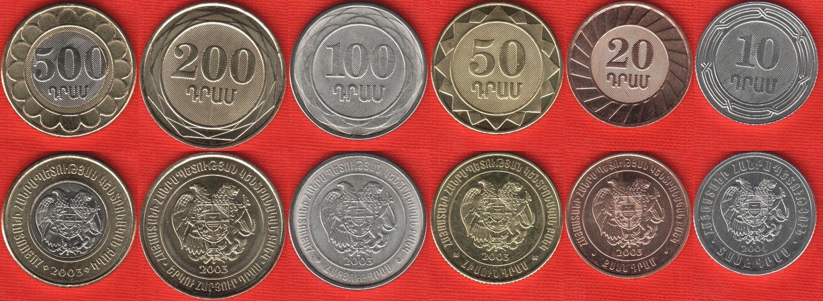 ARMENIA zestaw 6 monet