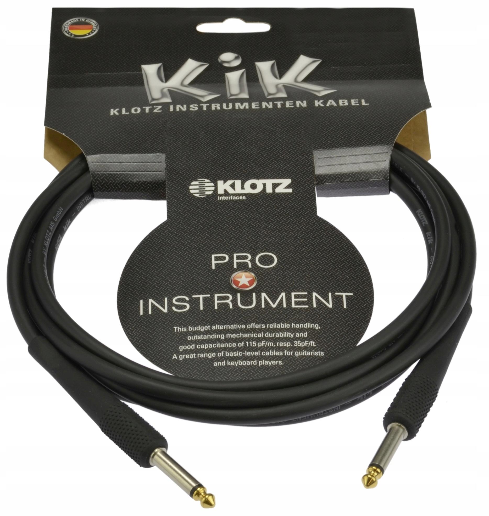 Item KLOTZ Cable 6,3 instrumental guitar GOLD 6m