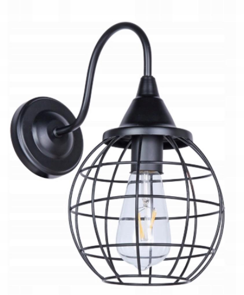 Nástenné svietidlo RETRO Loft Edison Black