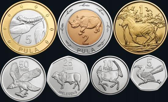 BOTSWANA zestaw 7 monet