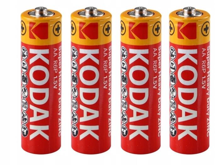 Купить 4x Батарейки Батарейки KODAK R06 R6 AA 1.5V finger на Otpravka - цены и фото - доставка из Польши и стран Европы в Украину.