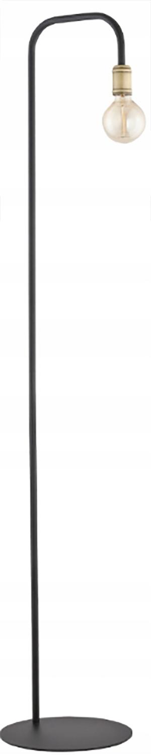 Podlahová lampa Poschodí Retro Čierne Zlato 155 cm