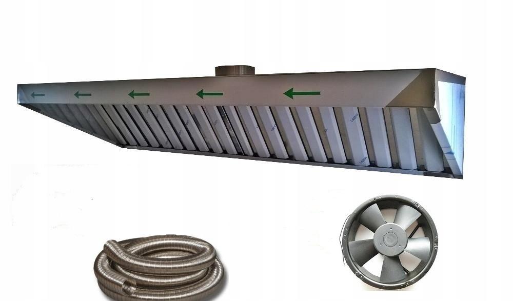 Гастрономическая вытяжка S 150x70x40 Filter Fan XL