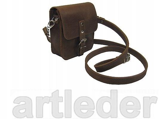 Vrecko taška ramenný popruh KOŽENÝ RETRO VÝROBCA