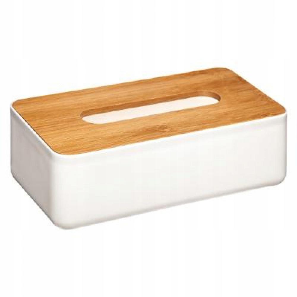 Vreckovka, krabica, biela BAMBOO Francúzsko