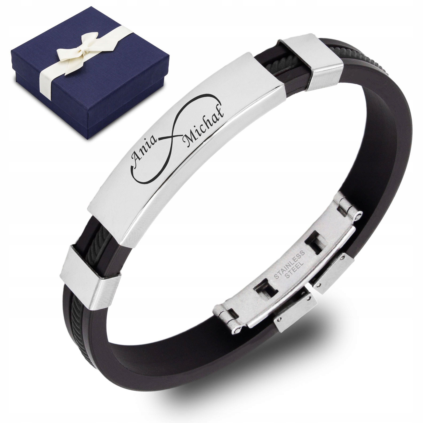 Item Stainless steel bracelet ENGRAVED FREE