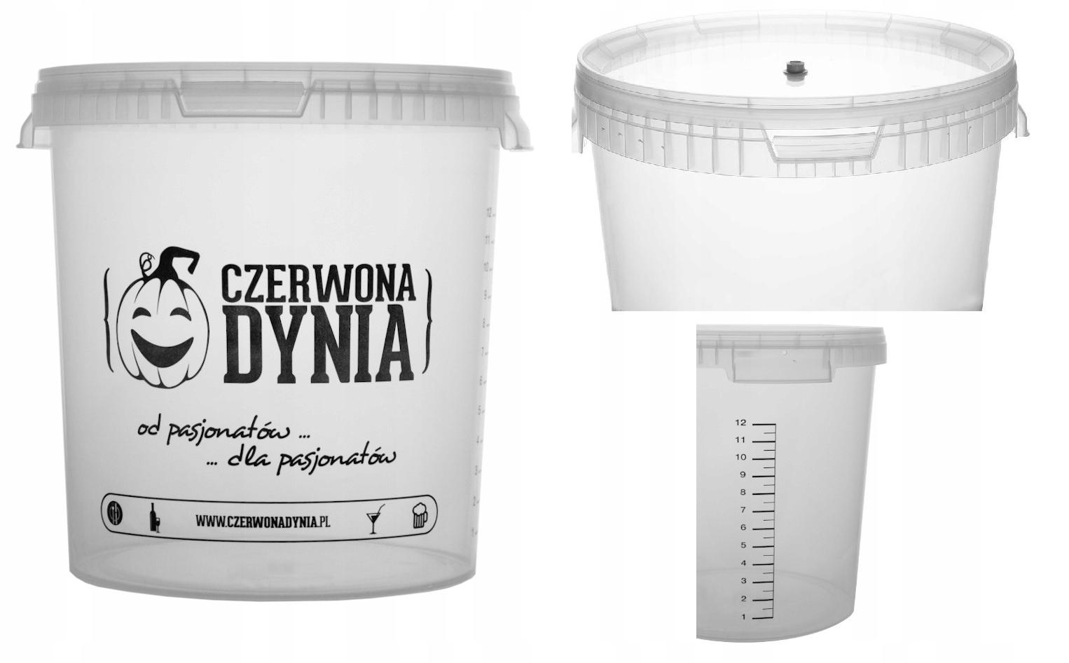 Pojemnik fermentacyjny 15L NAWIERCONY - TANIO!