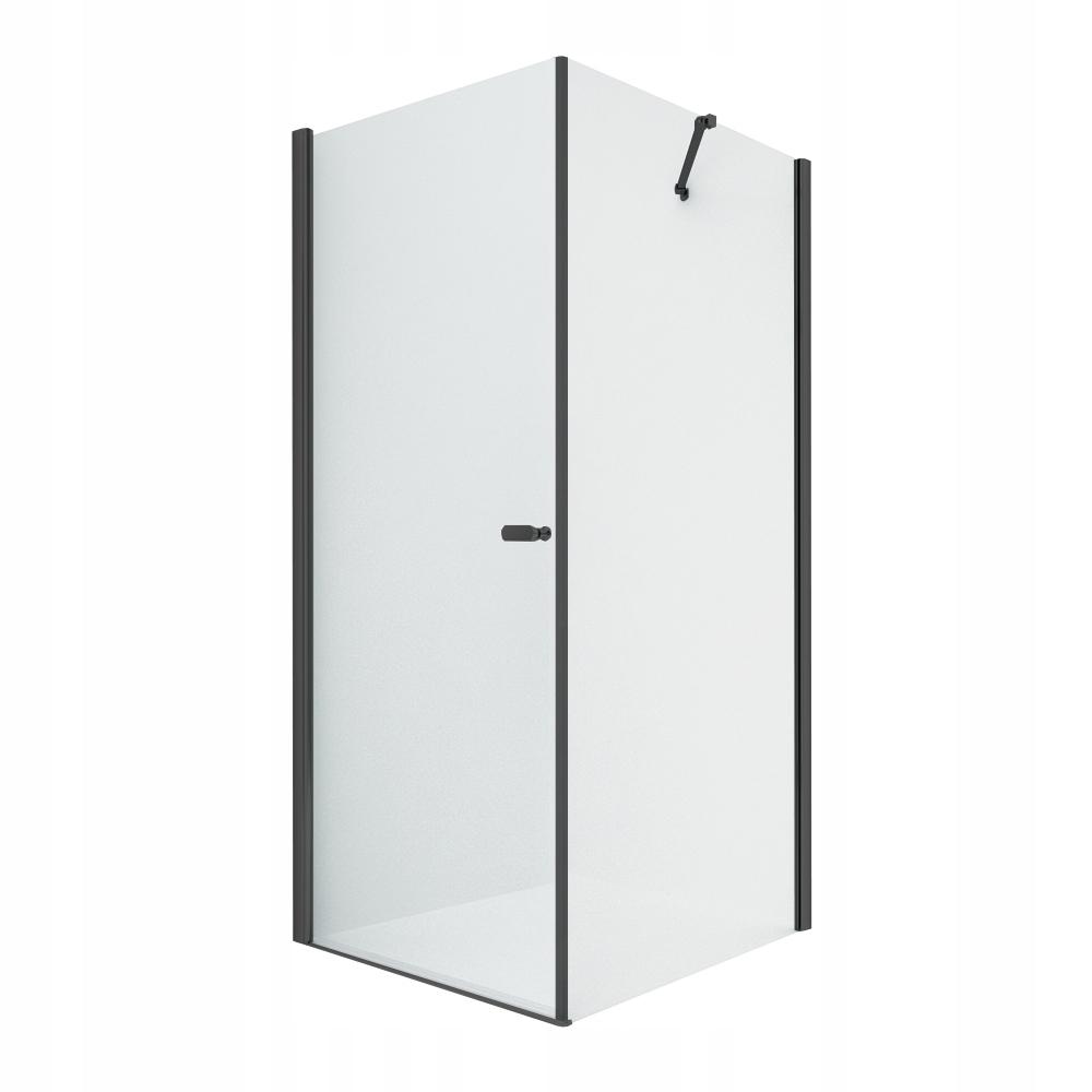 NOVINKA SOLEO Čierna sprchová kabína 90 dverí x100 x195