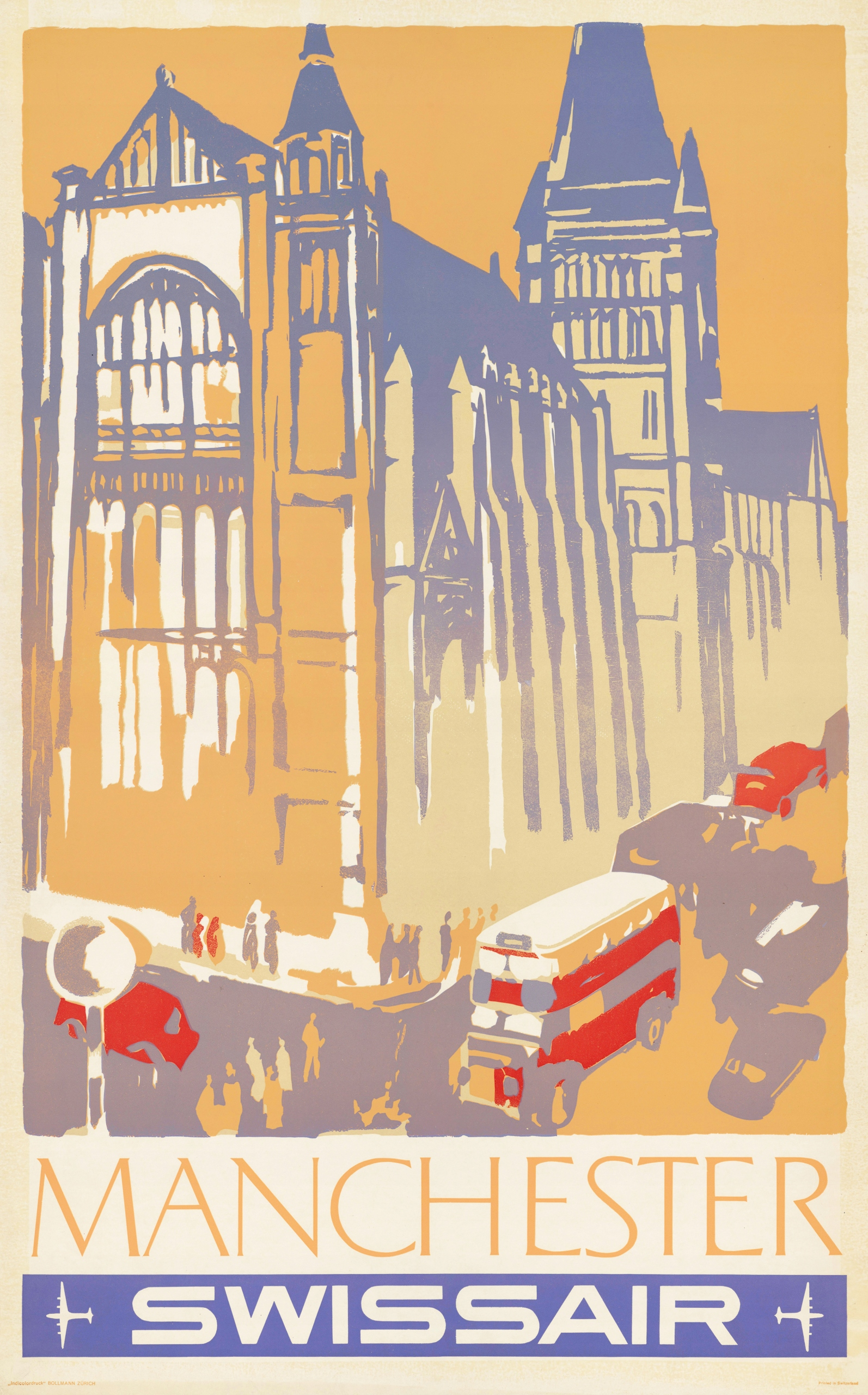 Item the MANCHESTER tourist poster 91x61 cm