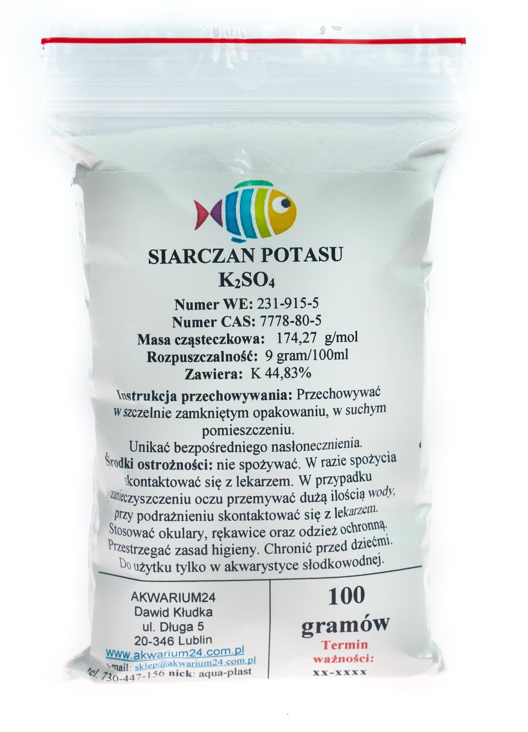 Калий K2SO4 сульфат калия чистый 99,9% 100г