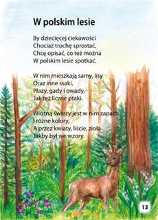 Książka Edukacyjna Wiersze Które Uczą Przyrody