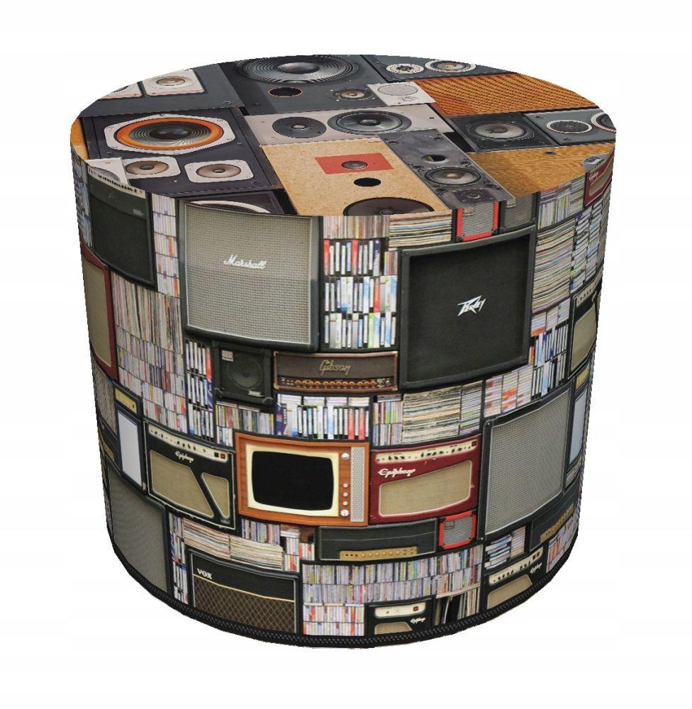 Stolička vankúš s ozdobným kolo valec 40x40 cm RETRO