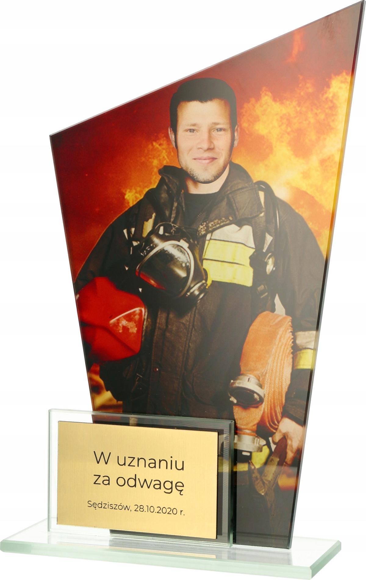 Купить СТАТУЭТКА СТЕКЛЯННАЯ ПОЖАРНАЯ СЛУЖБА металлическийВысота СМ на Eurozakup - цены и фото - доставка из Польши и стран Европы в Украину.