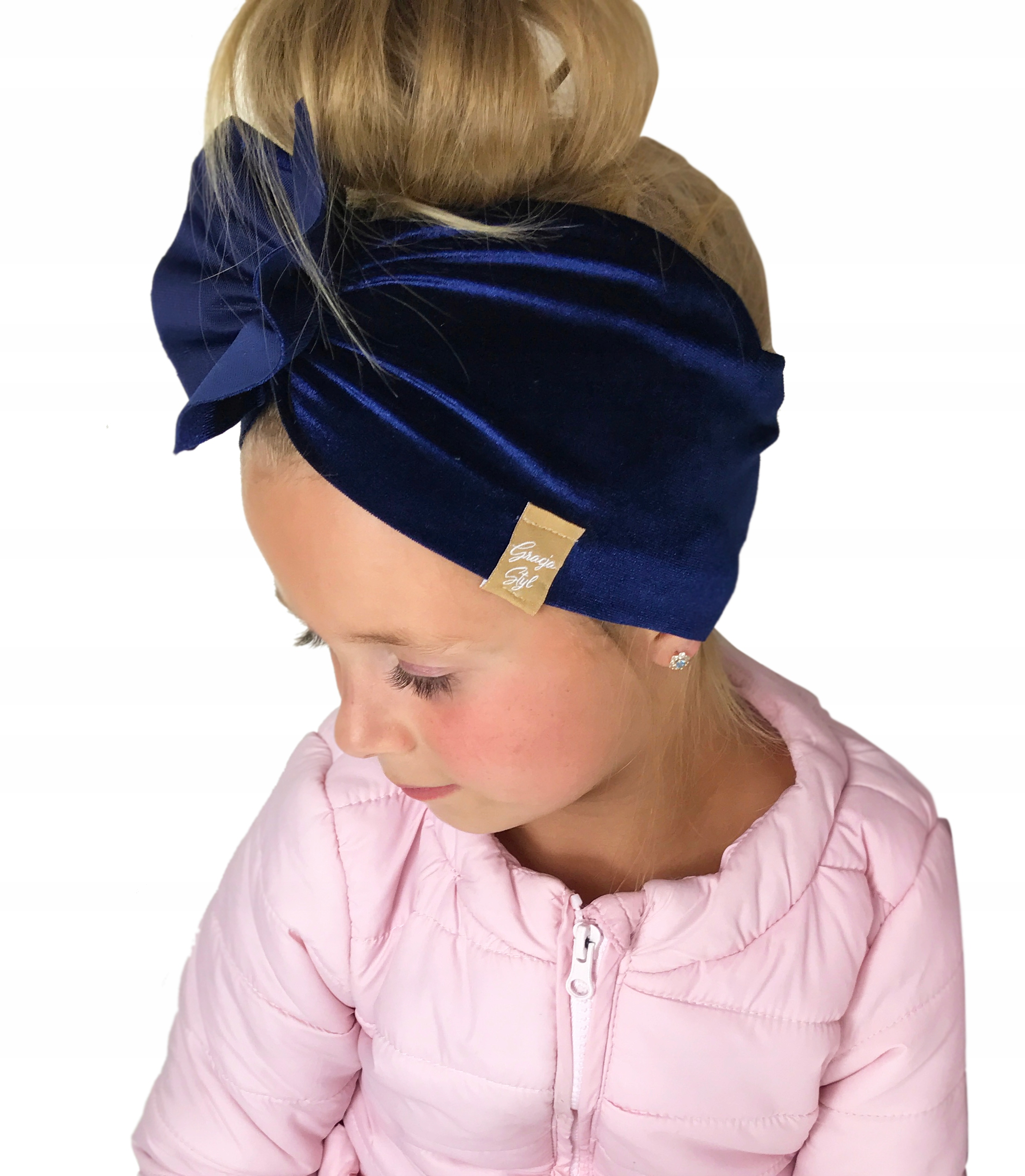 OPASKA, turban , Welur kolory dla dzieci roz 44-47