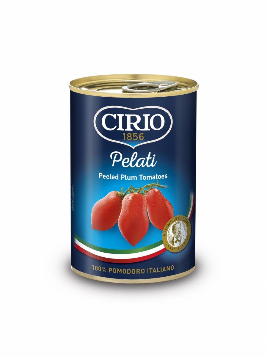 CIRIO włoskie pomidory całe bez skóry PELATI 400G