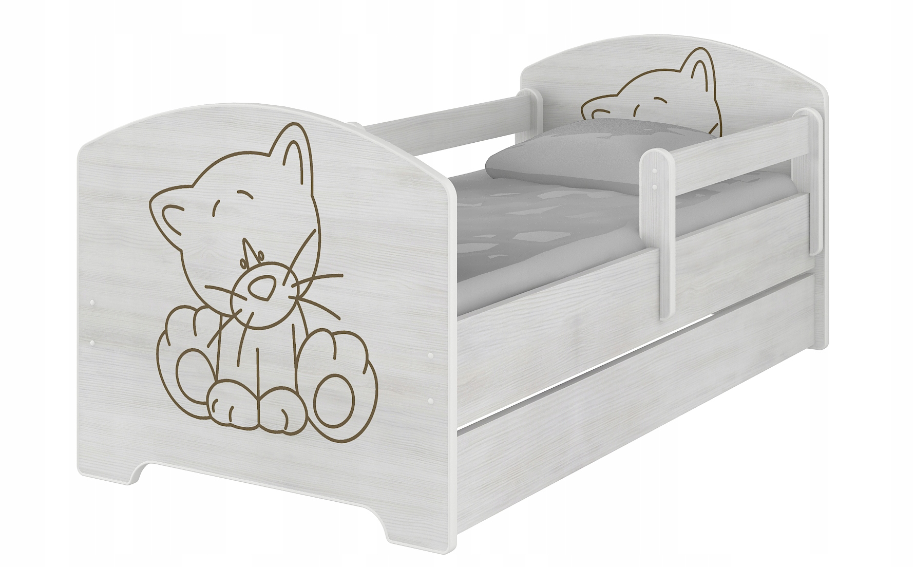 Łóżko łóżka OSKAR BABY BOO 160X80 MATERAC+SZUFLADA