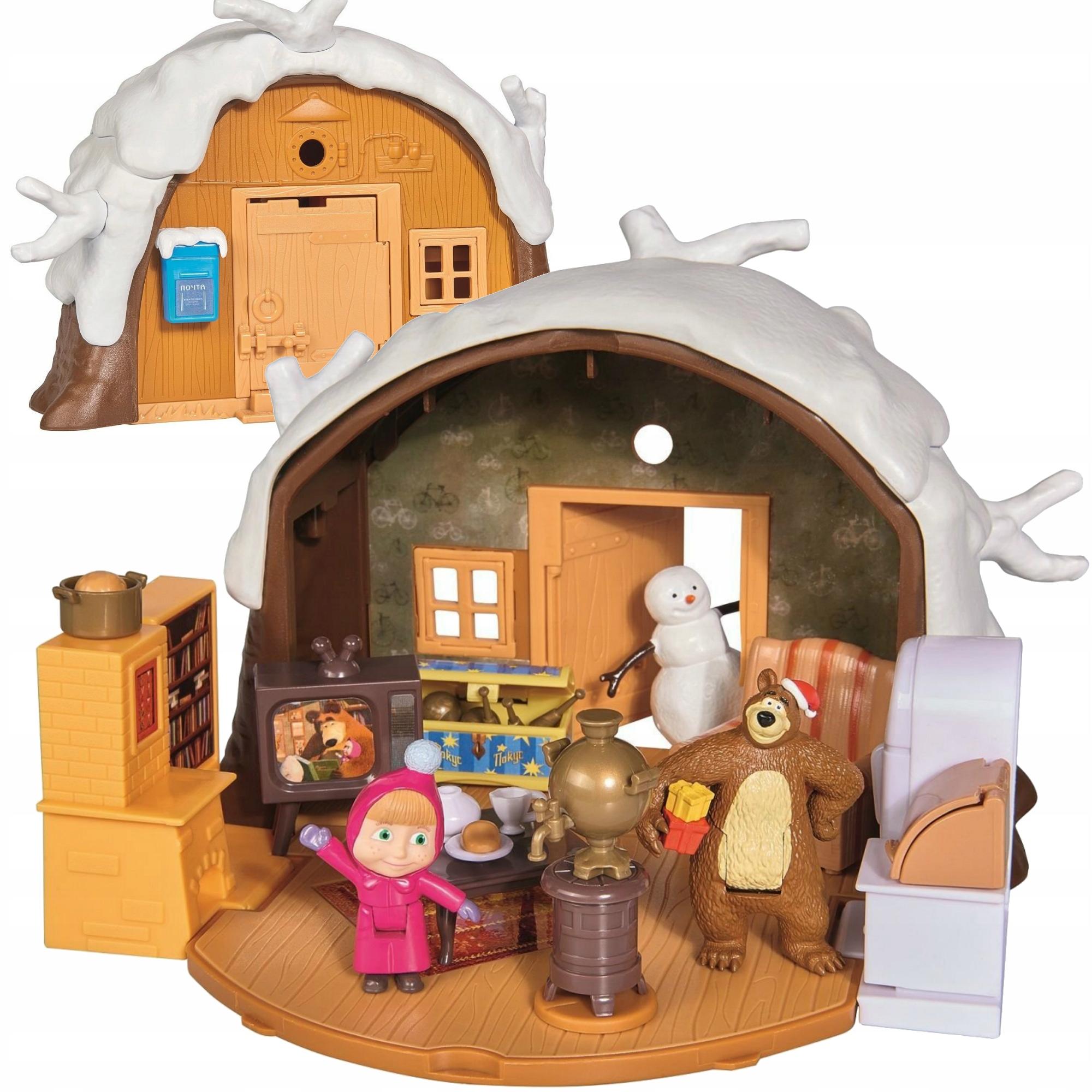 Masza I Niedzwiedz Duzy Zimowy Domek Miszy Simba 7608901939 Allegro Pl