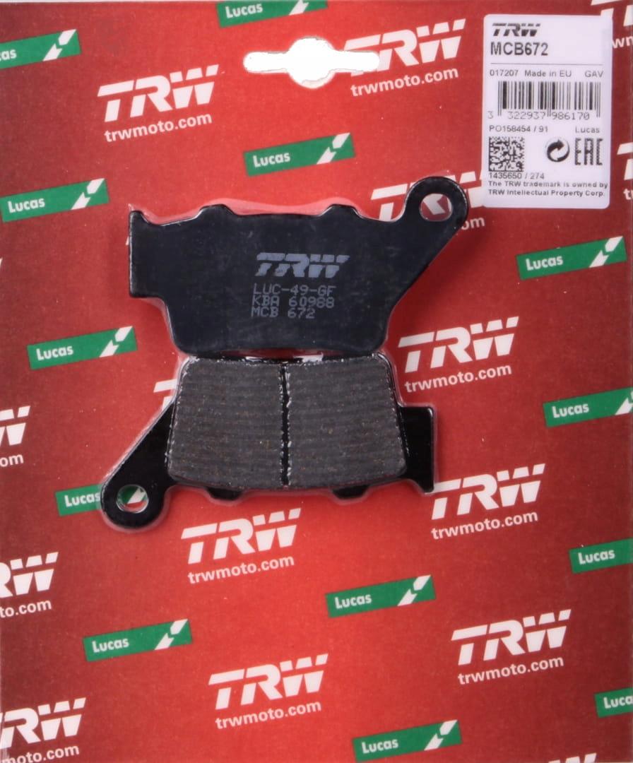 TRW MCB672 Pastillas de Frenos