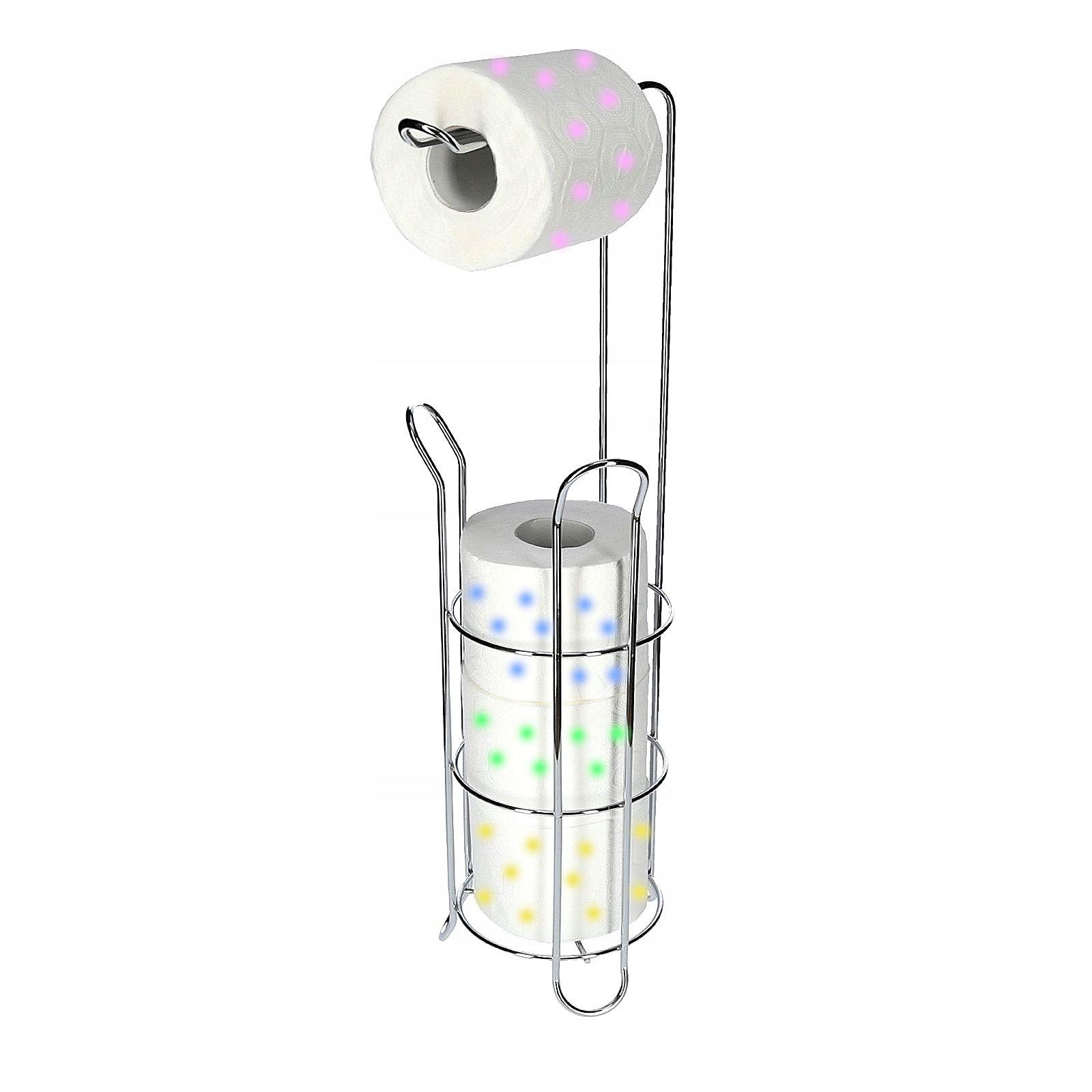 STOJAK TOY na PAPIER toaletowy CHROM zasobnik WC