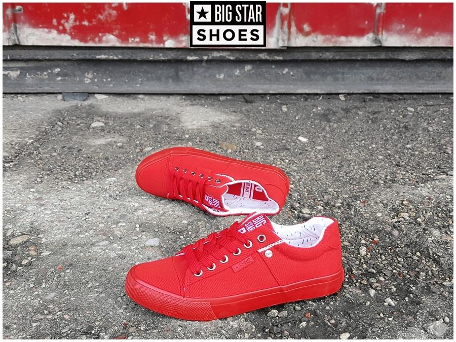 Trampki Big Star damskie czerwone buty AA274514 38