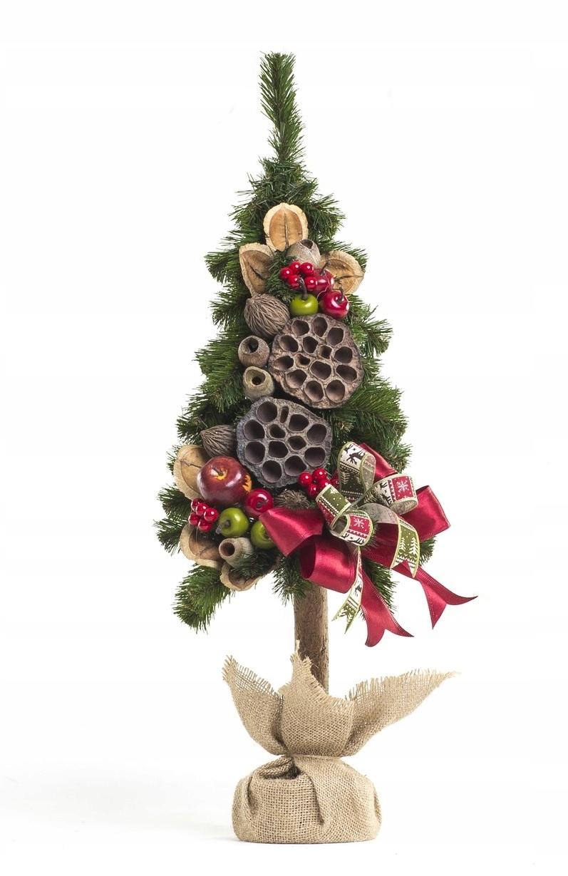 Umelý vianočný stromček zdobený Karibu 65 cm