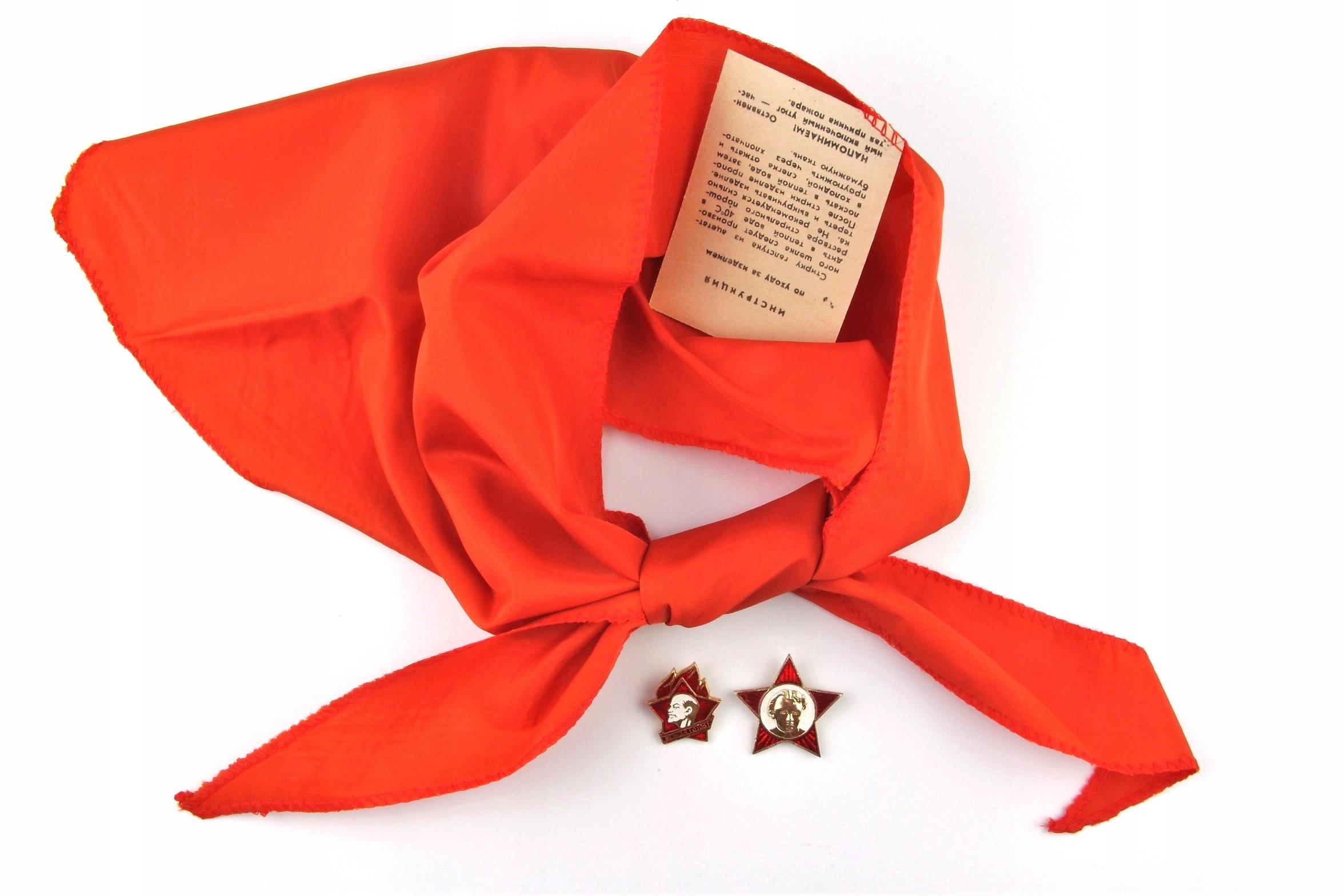 Radziecki pionierski krawat i odznaką + gratis