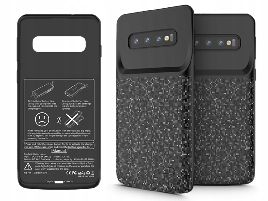 Power-bank Etui Case Z Baterią 4700MAH Galaxy S10