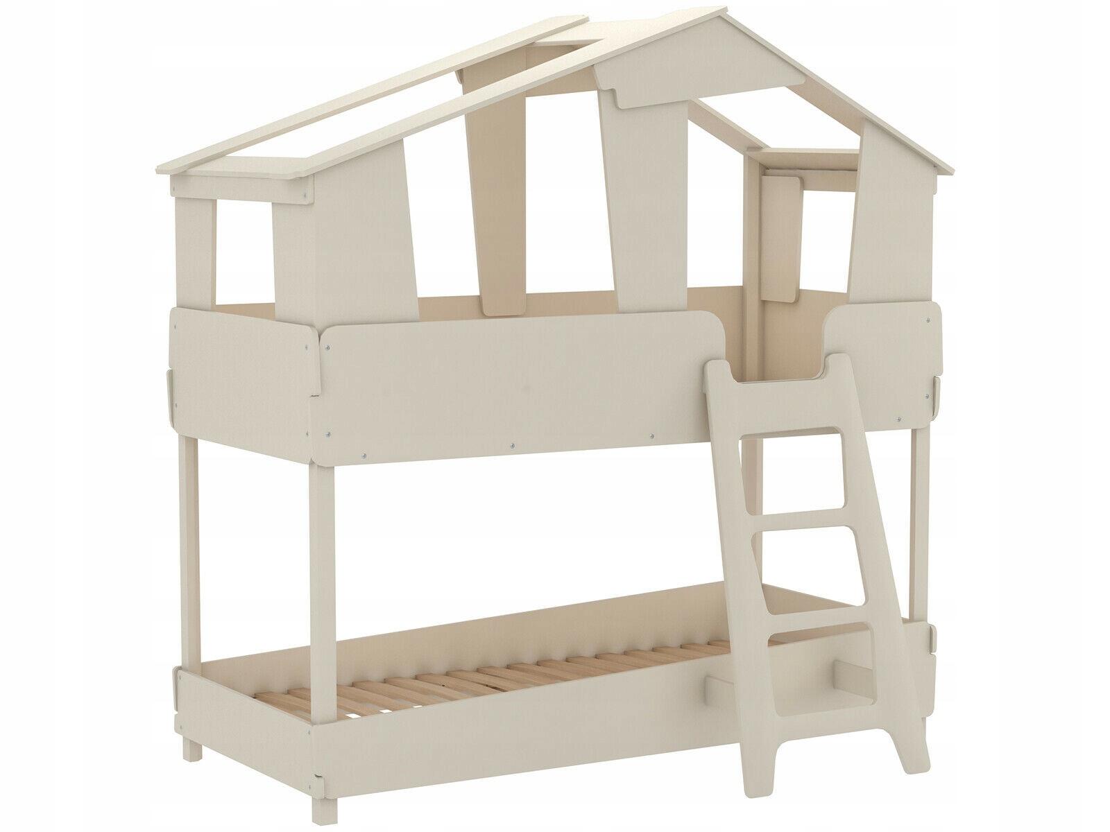 Detská poschodová posteľ v kabíne 90 x 200 cm v izbe
