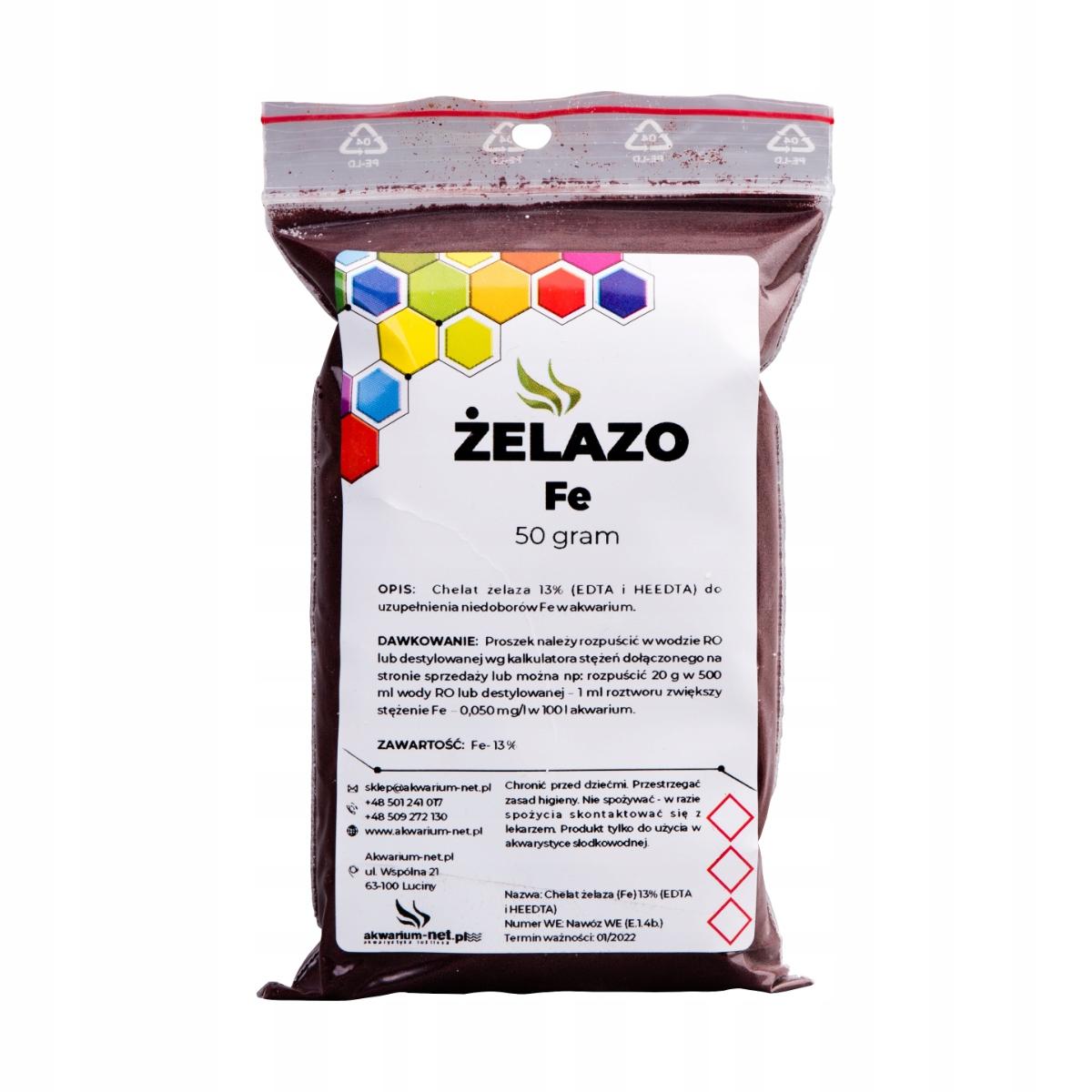 ŻELAZO 13% - CHELAT Fe 50 g