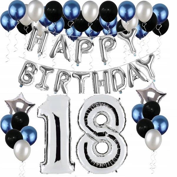 НАБОР ШАРОВ на день рождения 18 цифра 18 ЛЕТ