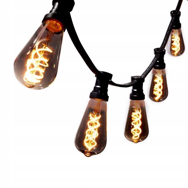 VLKOVCOVÝ svetlo 5 mb +5 LED Čierna Vintage ST64