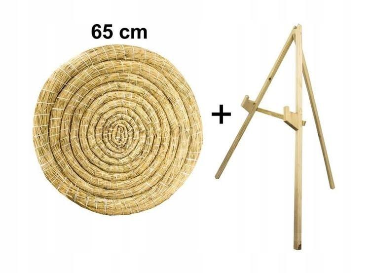 Mat łucznicza słomiana štít 65 cm + STOJAN