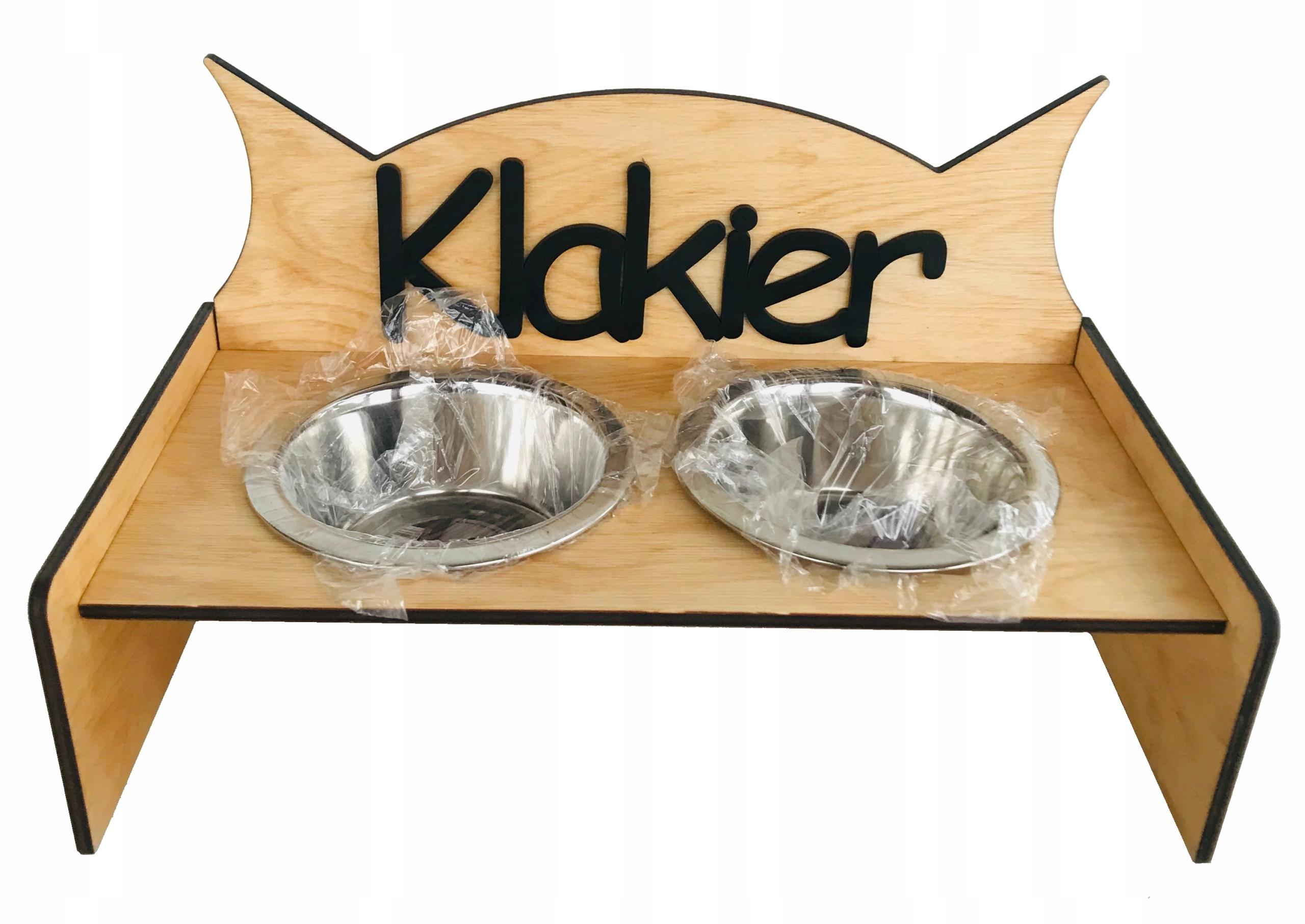"""Stojan """" formou bufetu misky pre mačky 0.45 ťažších dekor psa"""
