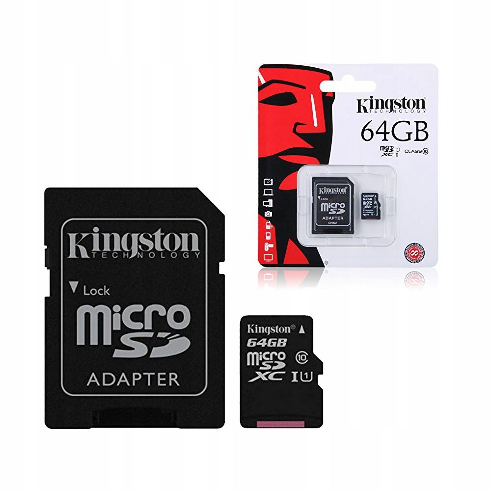 Купить КАРТА ПАМЯТИ microSD 64GB MICRO  АДАПТЕР SD-USB CL10 на Eurozakup - цены и фото - доставка из Польши и стран Европы в Украину.