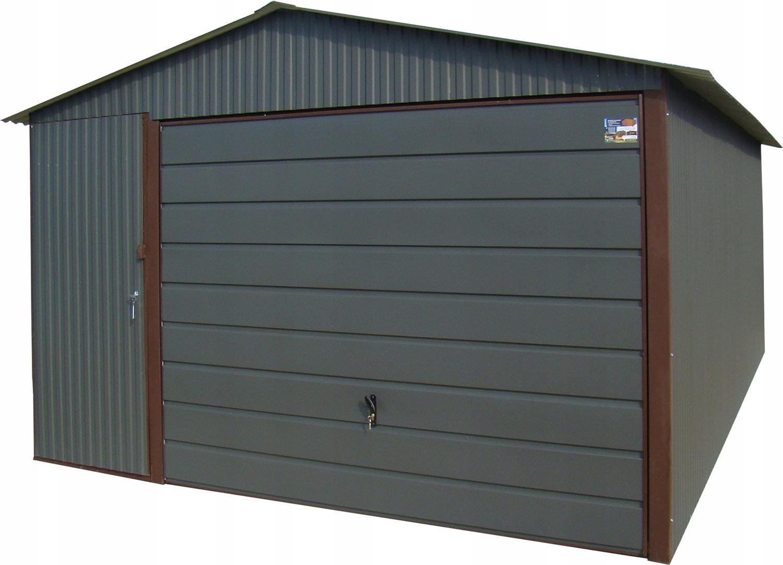 Жестяные гаражи 4x5 Blaszak Garage Graphite Blaszaki
