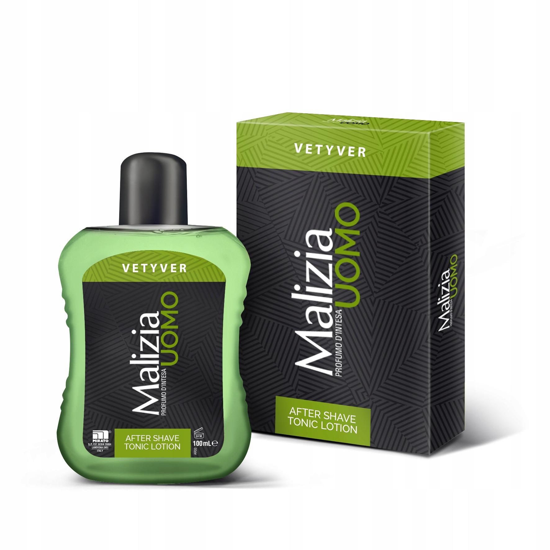 Malizia Uomo Vetyver - вода после бритья (100 мл)