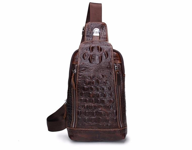 Odolná pánska kožená taška VINTAGE tmavo hnedé
