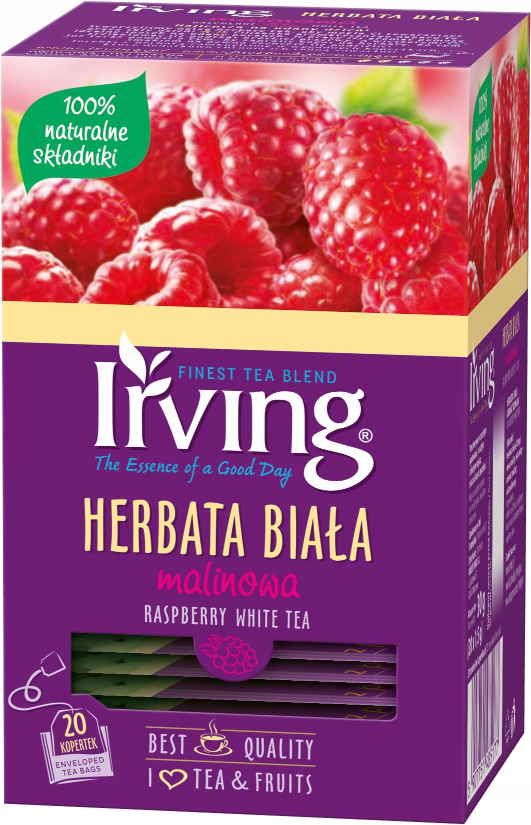 Купить ИРВИНГ Белый Чай с малиной - 100% НАТУРА на Otpravka - цены и фото - доставка из Польши и стран Европы в Украину.