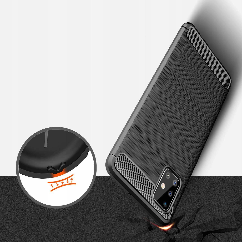 ETUI do Samsung Galaxy M51 KARBON PANCERNE + SZKŁO Kod producenta M6A