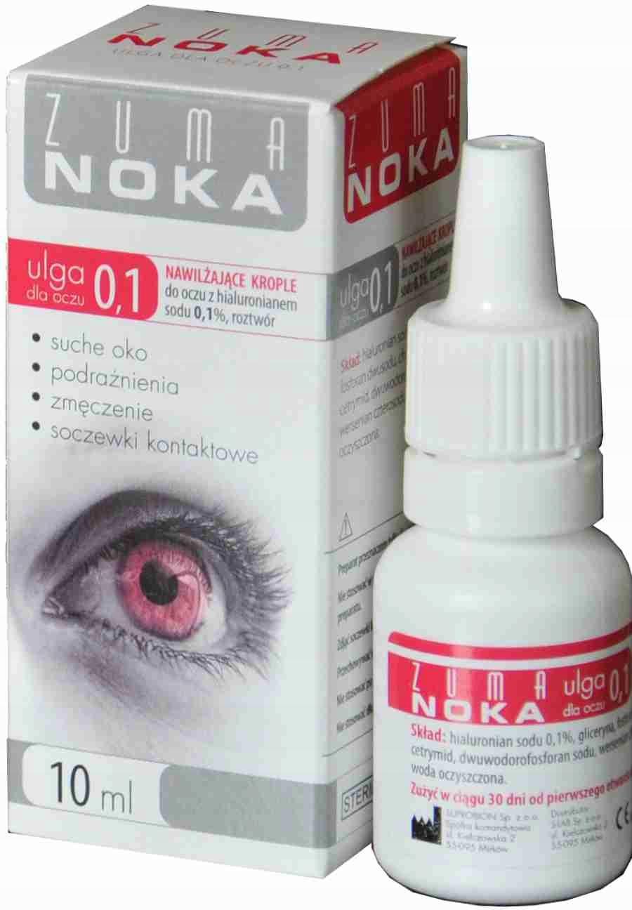 ZUMA NOKA 0,1% nawilżające krople do oczu