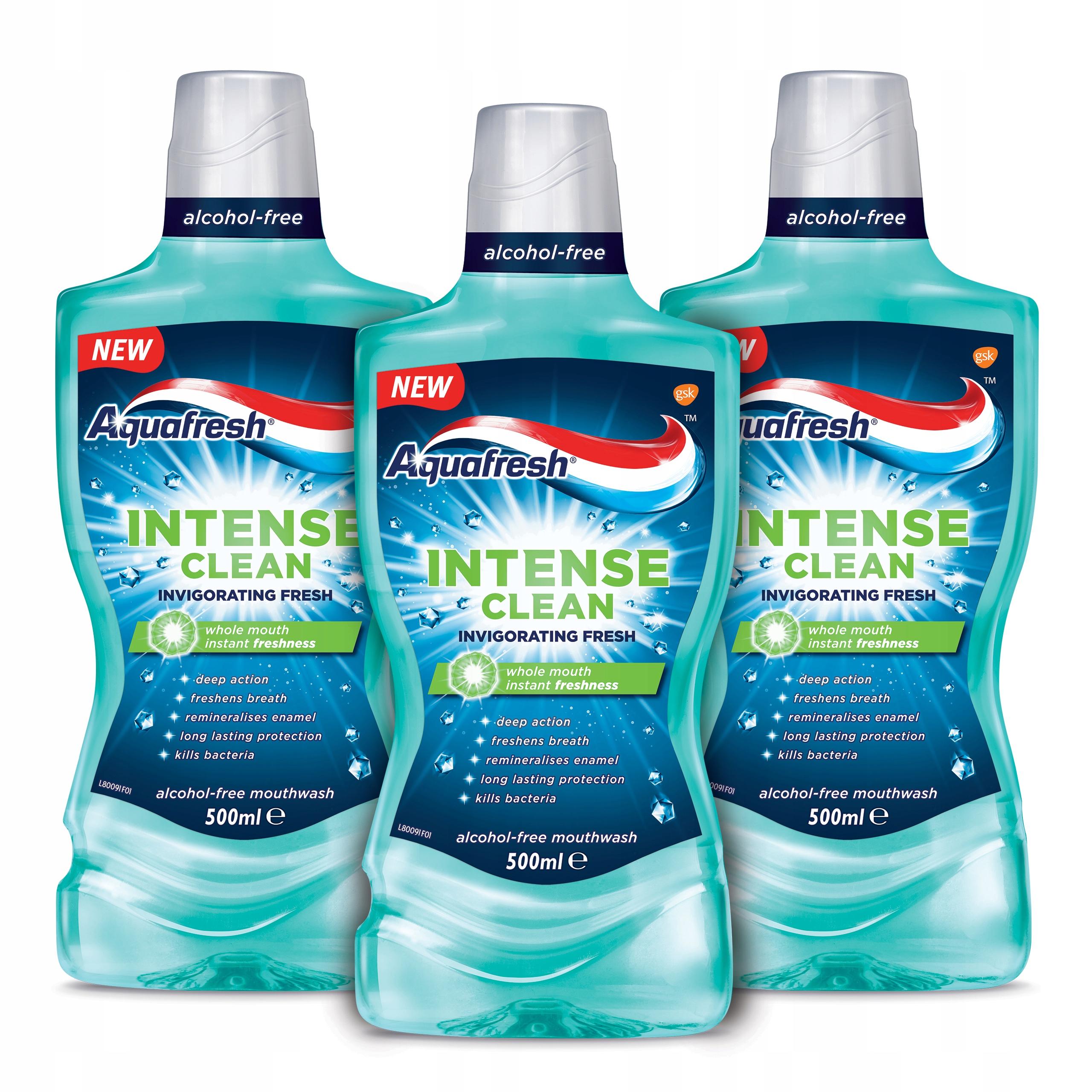 AQUAFRESH Intense Clean płyn jamy ustnej 3x500ml